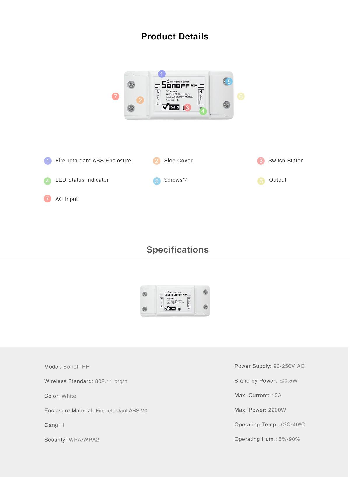 Android Box Dot Ir Sonoff RF 06 1