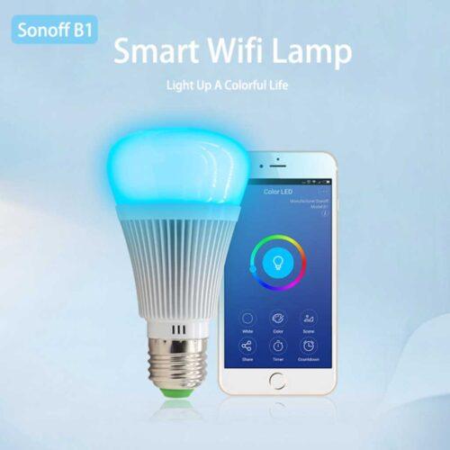 لامپ هوشمند rgb برند sonoff b1