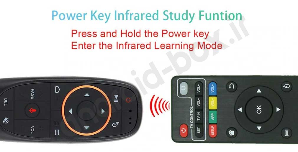 G10 Air Remote Ir Learning For Power On And Off Devices