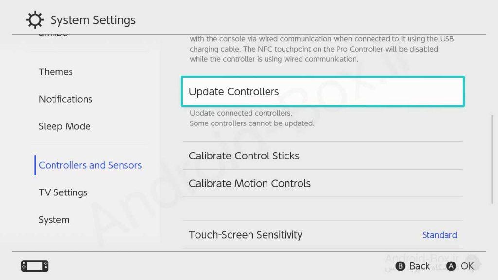 Nintendo Switch Update Controllers Menu