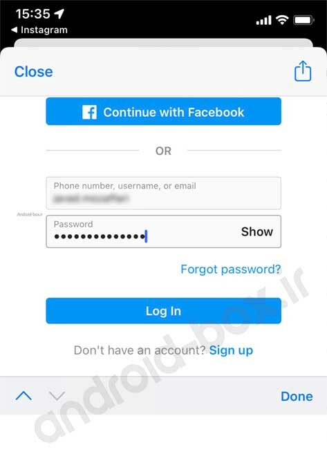 Ios Scriptable Broser Process To Sign In Instagram
