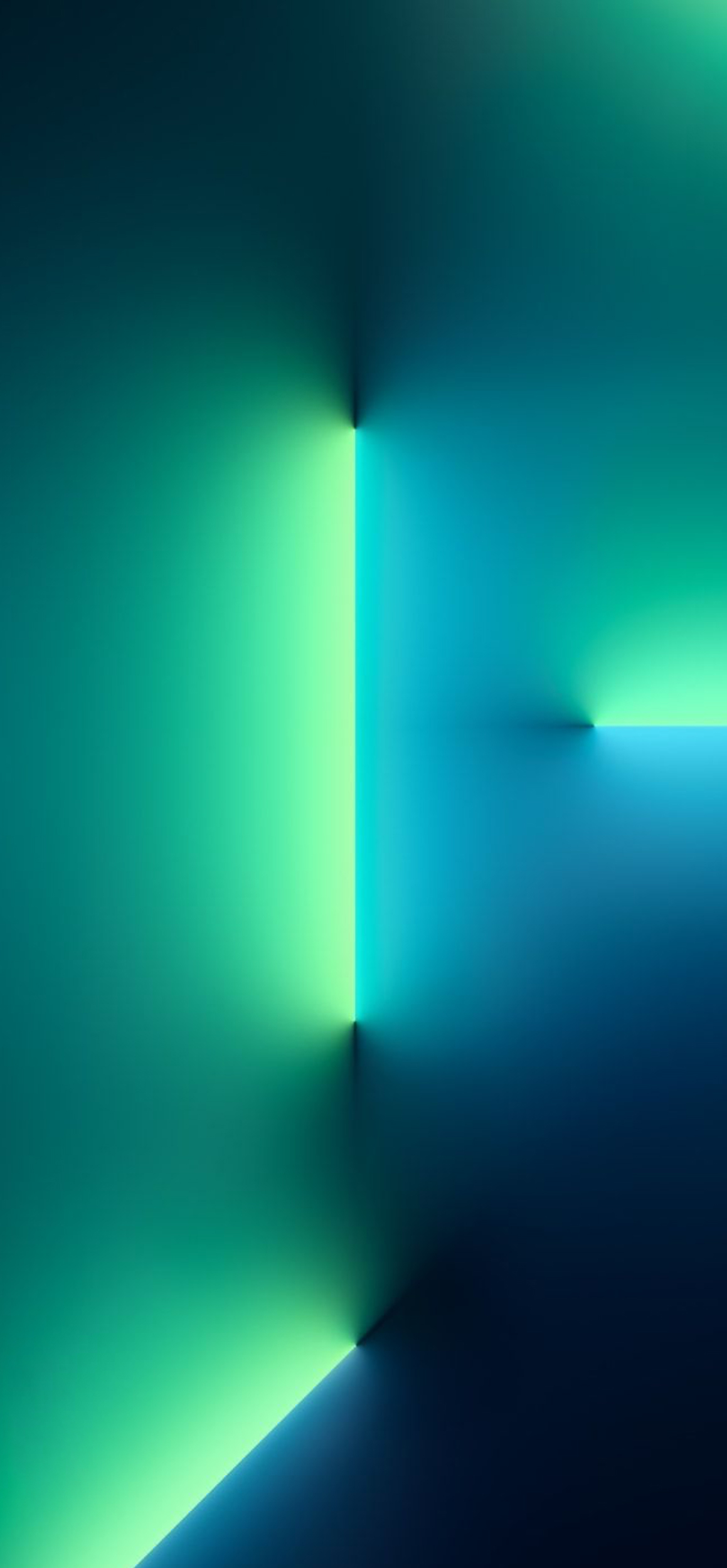IPhone 13 Pro Wallpaper In Green And Blue Lights